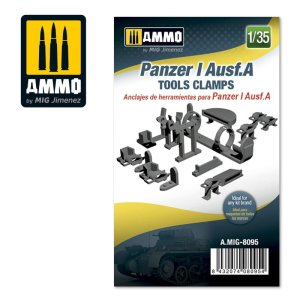 AMMO MIG 8095 - 1:35 Panzer I Ausf.A Tools Clamps