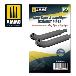 AMMO MIG 8093 - 1:35 King Tiger & Jagdtiger Exhaust Pipes