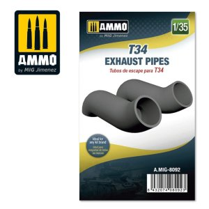 AMMO MIG 8092 - 1:35 T-34 Exhaust Pipes