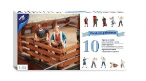 ARTESANIA LATINA 22411-F - 1:65 Set of 10 Metal Figurines for Caravels and Galleons