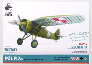 TORO MODEL 48S01X - 1:48 PZL P.7a Polish Fighter Plane