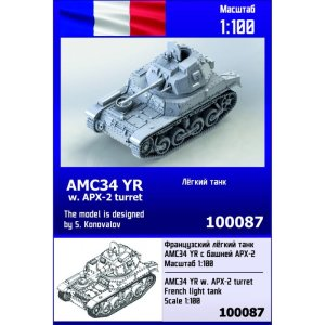 ZEBRANO Z100-087 - 1:100 AMC34 YR with APX-2 turret