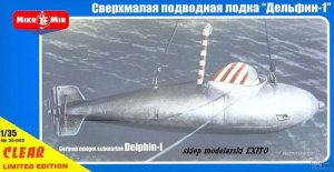 MIKROMIR 35005 - 1:35 German midget submarine Delphin-I (clear version) - limited edition