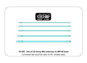 ABER 16055 - 1:16 Set of US Army MS antennas to MP-48 base