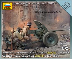 ZVEZDA 6114 - 1:72 German Anti-tank Gun Pak-36 with Crew