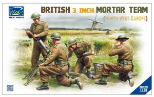 RIICH MODELS 35022 - 1:35 British 3 inch Mortar Team (North West Europe)