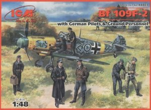 ICM 48803 - 1:48 Bf 109 F-2 with German Pilots and Ground Personnel