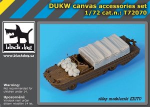 BLACK DOG T72070 - 1:72 DUKW canvas accessories set