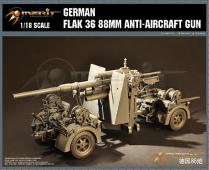 MERIT 61701 - 1:18 German Flak 36 88mm Anti-Aircraft Gun