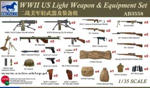BRONCO AB 3558 - 1:35 WWII US Light Weapon & Equipment Set
