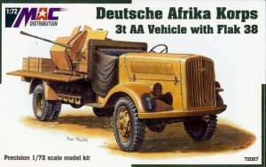 MAC 72067 - 1:72 Opel Blitz 3t with 20mm Flak 38 - Afrika Corps