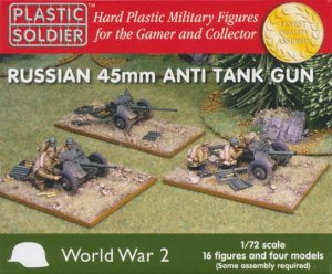 PLASTIC SOLDIER G20001 - 1:72 Russian 45mm Anti Tank Gun (4 pcs)