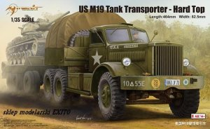 MERIT 63501 - 1:35 U.S. M19 Tank Transporter with Hard Top Cab