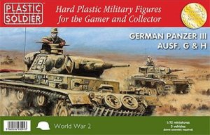 PLASTIC SOLDIER V20010 - 1:72 German Panzer III Ausf. G/H (3 pcs)