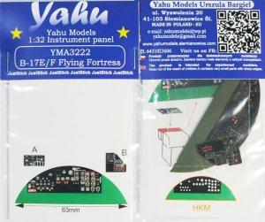 YAHU YMA3222 - 1:32 Boeing B-17 E/F Flying Fortress - Instrument Panel
