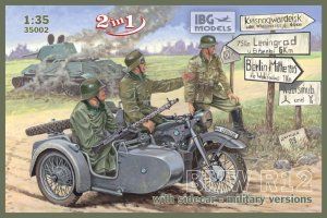 IBG 35002 - 1:35 BMW R12 with sidecar - military version