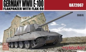 MODELCOLLECT UA72067 - 1:72 Germany WWII E-100 Flakpanzer with Flak 88