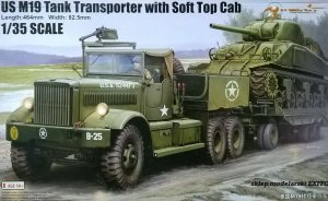 MERIT 63502 - 1:35 U.S. M19 Tank Transporter with Soft Top Cab