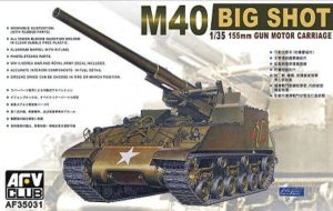 AFV CLUB 35031 - 1:35 M-40 155mm Gun Motor Carriage