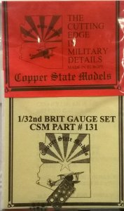 COPPER STATE MODELS CSM A32131 - 1:32 British Gauge Set