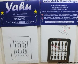 YAHU YMS2401 - 1:24 Luftwaffe latch 10 pcs (10 szt)