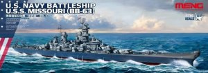 MENG MODEL PS004 - 1:700 US Navy Battleship USS Missouri (BB-63)