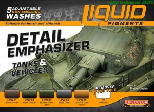 LIFECOLOR LP 01 - Liquid Pigments - Detail Emphasizer - Tanks & Vehicles