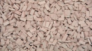 JUWEELA 28061 - 1:87 Bricks medium terracotta 3000 pcs