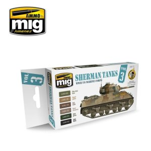 AMMO MIG 7171 - Sherman Tanks Vol. 3 WWII US Marine Corps