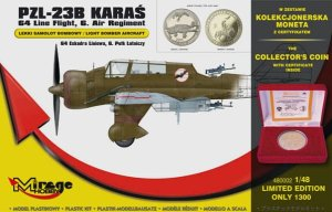 MIRAGE 480002 - 1:48 PZL-23B Karas (with coin)