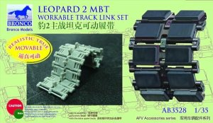 BRONCO AB 3528 - 1:35 German Leopard 2 MBT Workable Track Link Set