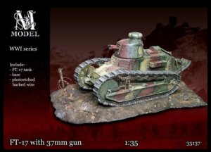 M-MODEL 35137 - 1:35 Renault Ft-17 with 37mm gun
