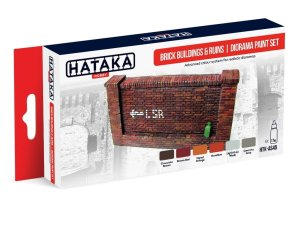 HATAKA AS45 - Brick buildings & ruins / diorama paint set