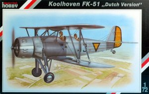 SPECIAL HOBBY 72048 - 1:72 Koolhoven FK-51Dutch version