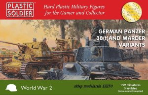 PLASTIC SOLDIER V20019 - 1:72 German Panzer 38(t) and Marder variants (3 pcs)