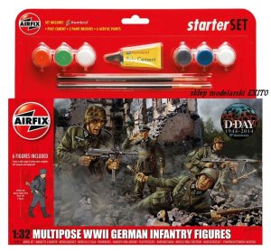 AIRFIX 55210 - 1:32 Multipose WWII German Infantry Figures