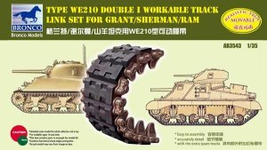 BRONCO AB 3543 - 1:35 Sherman Double I Workable Track Link Set