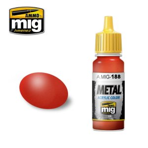 AMMO MIG 188 - Metallic Red - farba akrylowa metaliczna 17ml
