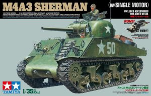 TAMIYA 30056 - 1:35 M4A3 Sherman w/Single Motor