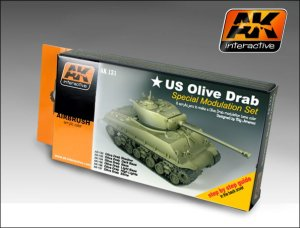 AK INTERACTIVE 131 - US Olive Draab Special Modulation Set
