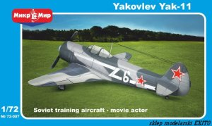 MIKROMIR 72007 - 1:72 Yakovlev Yak-11 training aircraft - movie actor