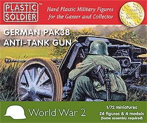 PLASTIC SOLDIER G20003 - 1:72 German Pak 38 anti tank gun (4 pcs)