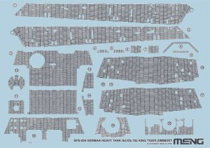MENG MODEL SPS039 - 1:35 German Heavy Tank Sd.Kfz.182 King Tiger Zimmerit Decal