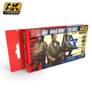 AK INTERACTIVE 3230 - IDF Uniform Colors Set