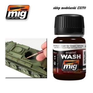 AMMO MIG 1005 - Dark Brown Wash for Green Vehicles