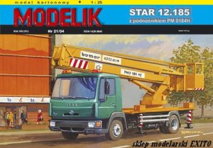 MODELIK 0421 - 1:25 Star 12.185 with hydraladder PM 0184H