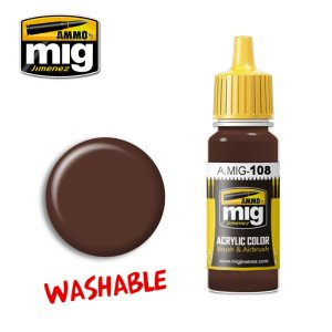 AMMO MIG 108 - Washable Mud - farba akrylowa zmywalna 17ml
