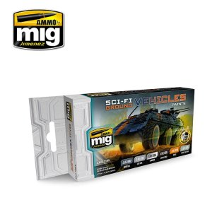 AMMO MIG 7155 - Sci-Fi Ground Vehicles Color Set