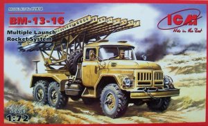 ICM 72814 - 1:72 BM-13-16,  Multiple Launch Rocket System on ZiL-131 base