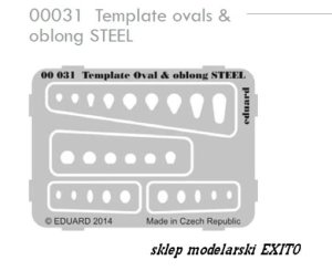 EDUARD 00031 - Template ovals & oblong Steel